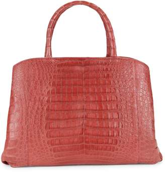 Nancy Gonzalez Crocodile Leather Double Top Handle Bag