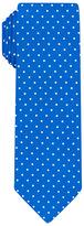 Skinny Blue Polka Dot Printed Silk Twill Tie