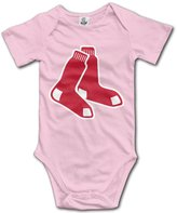 Enlove Boston Red Sox BABY Cartoon Short Sleeves Variety Baby Onesies Bodysuit For Girls