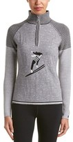Neve Flora 1/4-zip Wool Sweater.