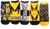 Marvel Wolverine X-men 5 Pack Ankle Socks
