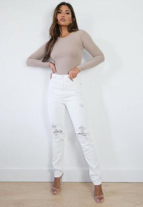 Missguided Wrath Super Shredded Straight Leg Jeans
