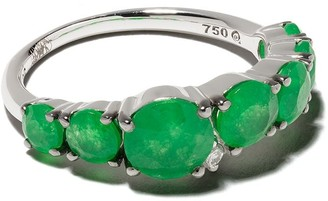 Brumani 18kt White Gold, Diamond And Jade Ring