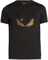 Fendi Bag Bugs embellished cotton-jersey T-shirt