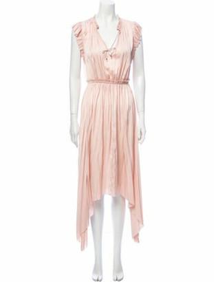 Ulla Johnson V-Neck Long Dress w/ Tags Pink