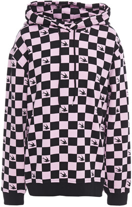 McQ Checked French Cotton-terry Hoodie