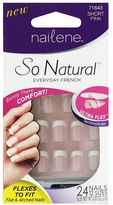 Nailene So Natural Ultra Flex Pink French Short Nails