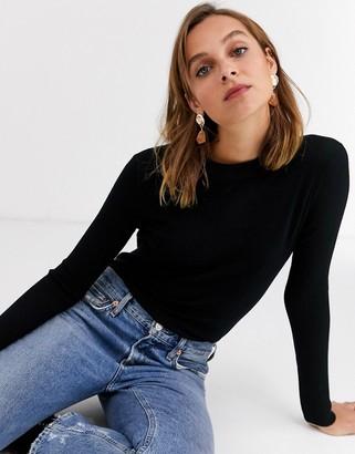 Gianni Feraud crewneck knit sweater in black