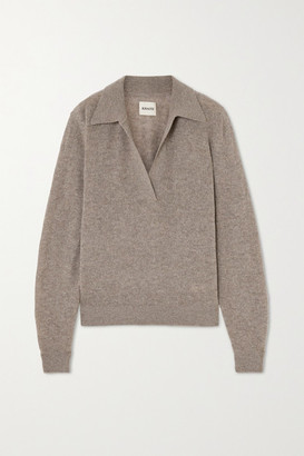 KHAITE Jo Cashmere-blend Sweater - Beige