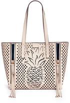 Chloé 'Milo' medium pineapple embossed perforated leather tote