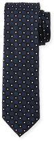 BOSS Neat Box-Pattern Silk Tie, Navy