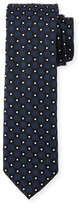 HUGO BOSS Neat Box-Pattern Silk Tie, Navy