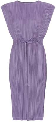 Pleats Please Waist-Tie Dress