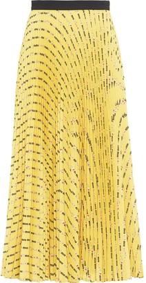 Miu Miu Flower print pleated skirt
