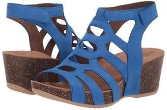 Dansko Selina (Cobalt Milled Nubuck) Women's Sandals