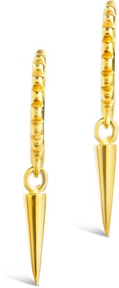 Sterling Forever 14K Gold Vermeil Stud Huggie Spike Dangle Drop Earrings