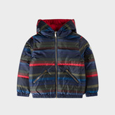 Paul Smith Boys' 2-6 Years Reversible Striped Red Down Jacket