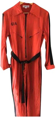 I.AM.GIA Red Cotton Jumpsuits