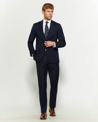 Tommy Hilfiger Two-Piece Blue Mini Check Wool-Blend Suit