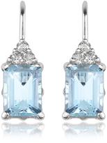 Tagliamonte Incanto Royale Aquamarine and Diamond 18K Gold Drop Earrings