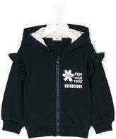 Fendi ruffle detail hoodie - kids - Cotton/Spandex/Elastane - 9 mth