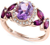 Effy Viola by Multi-Gemstone (3-1/2 ct. t.w.) and Diamond (1/10 ct. t.w.) Ring in 14k Rose Gold