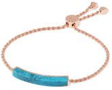 Monica Vinader Rose Gold Vermeil Turquoise Bracelet - one size