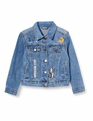 MEK Girl's Giubbino Jeans Stretch Con APPL. Coat