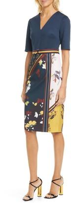 Ted Baker Madiiy Savanna V-Neck Body-Con Dress