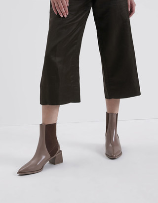 Charles & Keith Stacked Heel Ankle Boots