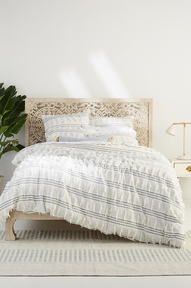 Anthropologie Fringed Frida Duvet Cover By in Black Size Q top/bed