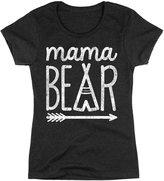 LC Trendz Mama Bear Print Ladies Scoop Neck Short Sleeve Gray T-Shirt, Womens 2XL