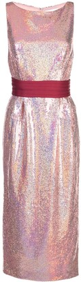 MARKARIAN Sequined Midi Dress
