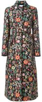 RED Valentino floral jacquard coat - women - Polyester/Acetate - 40