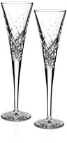 Waterford Wishes Happy Celebrations Monogram Script Toasting Flute, Set of 2