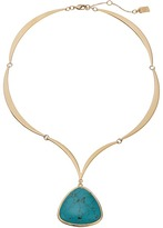 """Lauren Ralph Lauren Treasure Trove 16"""" Stone Pendant Necklace"""