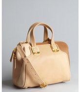 Fendi beige colorblock leather small satchel