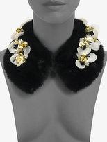 Marni Embellished Mink Collar