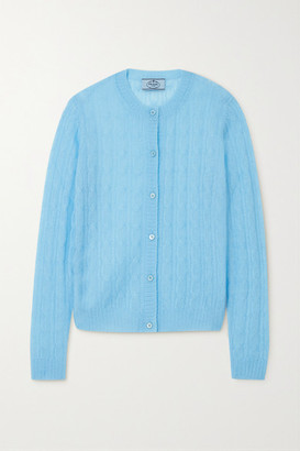 Prada Cable-knit Cardigan - Light blue