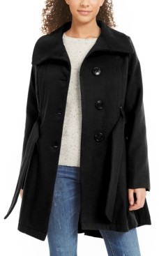 Madden-Girl Juniors' Belted Drama Skirted Coat, Created for Macy's