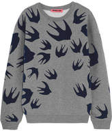 McQ Flocked Cotton-blend Terry Sweatshirt - Gray