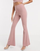 Asos Design DESIGN jersey kick flare suit trousers