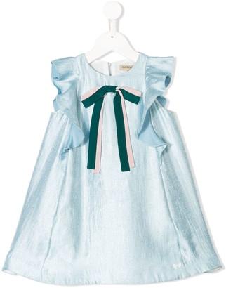 Hucklebones London ribbon flutter dress