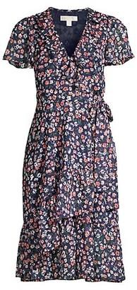 MICHAEL Michael Kors Twilight Floral Wrap Dress