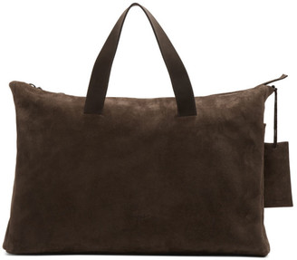 Marsèll Brown Suede Large Monouso Tote