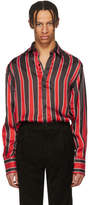Givenchy Black and Red Formal Striped Shirt