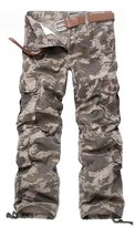 OCHENTA Men's Outdoor Loose Casual Multi Pocket Cargo Pants