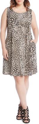 Karen Kane Chloe Leopard Print A-Line Dress