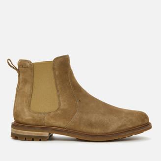 Clarks Men's Foxwell Top Suede Chelsea Boots
