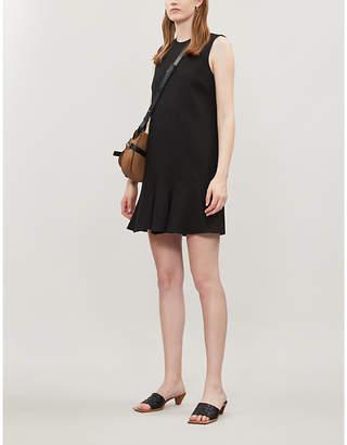 Victoria Victoria Beckham Ruffled-Hem Woven Dress
